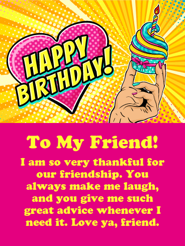 thankful for our friendship happy birthday card for friends