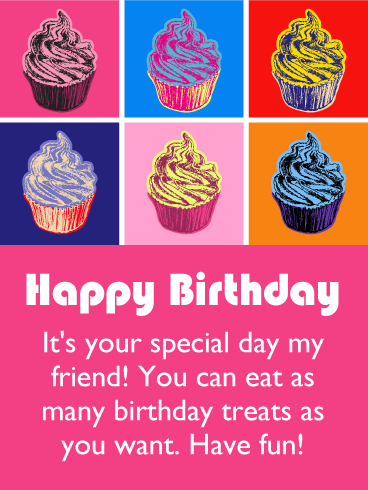 Your Special Day! Happy Birthday Card for Friends