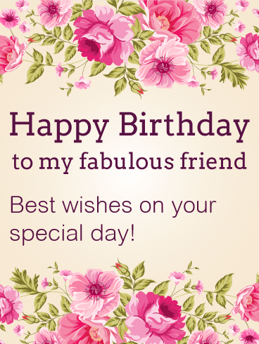 Nice Best Wishes On Your Special Day! Happy Birthday Card For Friends Design