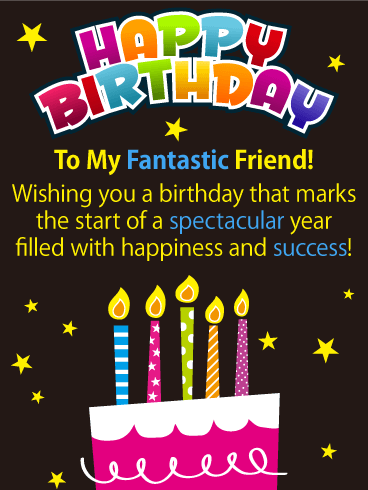Happiness and Success! Happy Birthday Card for Friends