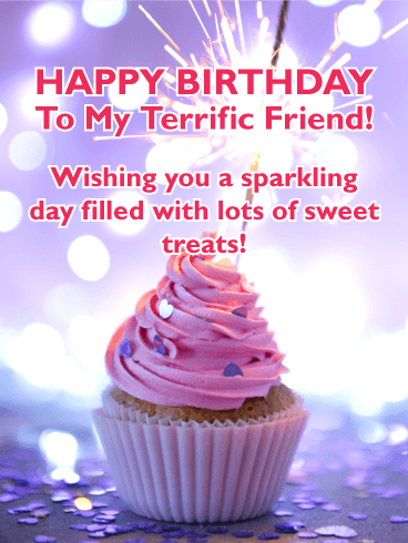 Sparking Day! Happy Birthday Card for Friends