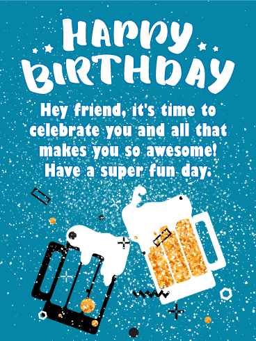 You are Awesome! Happy Birthday Card for Friends
