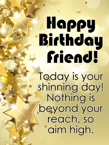 happy birthday card for friends