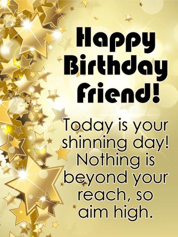 Happy Birthday Friend Images.Aim High Happy Birthday Card For Friends Birthday