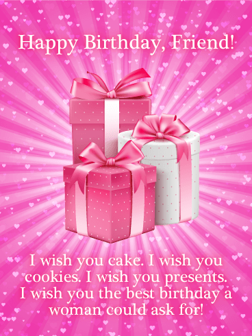 Happy Birthday Friend I Wish You Cake Cookies
