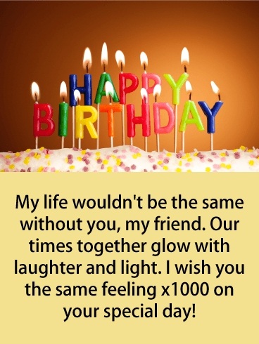 Admirable Happy Birthday Friend Messages With Images Birthday Wishes And Personalised Birthday Cards Bromeletsinfo