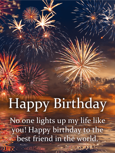 You Lights up my Life - Happy Birthday Card for Friends