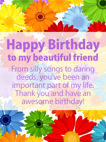 Have an Awesome Day - Happy Birthday Card for Friends