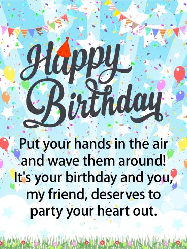 Release the Balloons! Happy Birthday Card for Friends