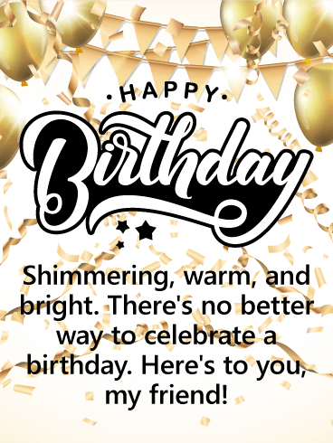 Here's to You - Happy Birthday Card for Friends