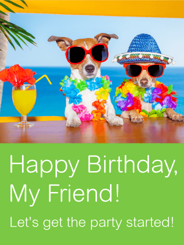 Two Best Party Friends Card | Birthday & Greeting Cards by Davia