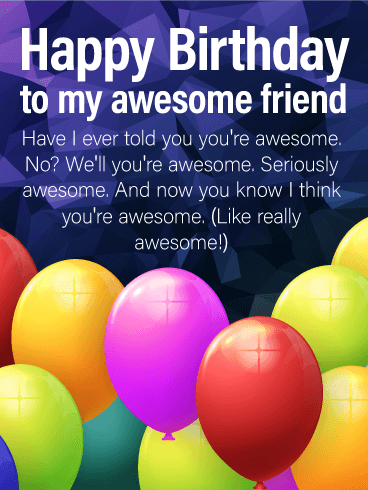 You're Really Awesome! Happy Birthday Card for Friends