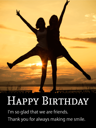 Two Best 's Friends Card | Birthday & Greeting Cards by Davia