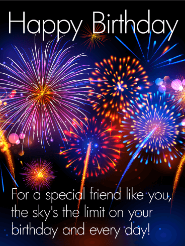To A Special Friend Happy Birthday Card Birthday Greeting