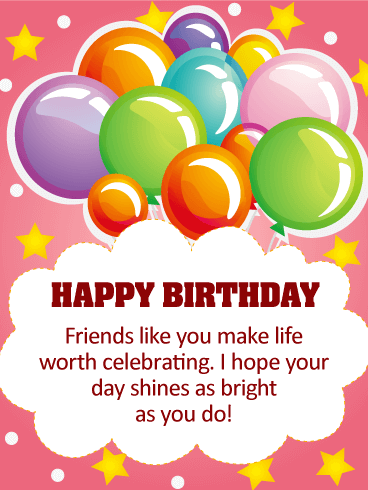 I Hope Your Day Shines Happy Birthday Card For Friends Birthday