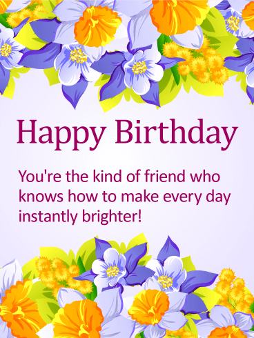 Delightful Happy Birthday Card For Friends Birthday Greeting