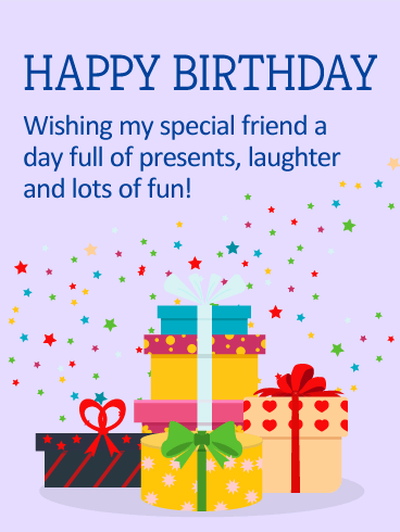 You are a Star on Your Special Day - Happy Birthday Card for Friends
