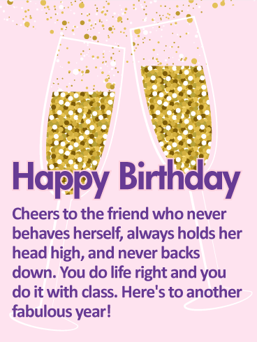 To Another Fabulous Year - Happy Birthday Wishes Card for Friends