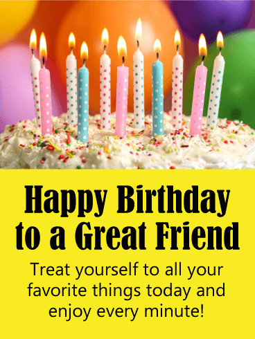 Enjoy Every Minute! Happy Birthday Card for Friends
