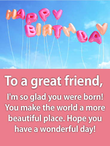 Fresh & Fun Happy Birthday Wishes Card for Friends
