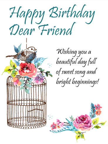 To The Sweetest Friend Happy Birthday Card Birthday Greeting