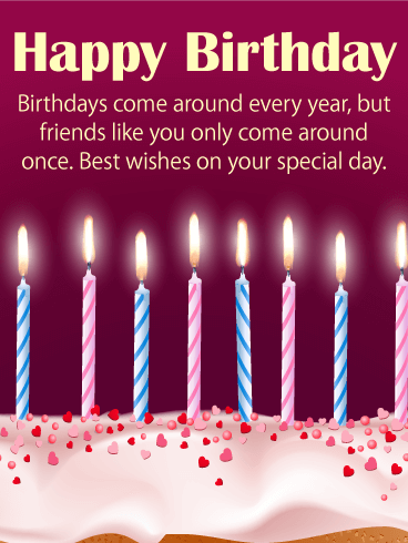 Best Happy Birthday Wishes Card for Friends