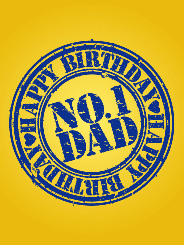 No.1 Dad - Happy Birthday Card