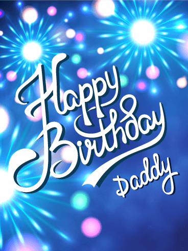 Lets celebrate happy birthday card for dad birthday greeting happy birthday card for dad m4hsunfo