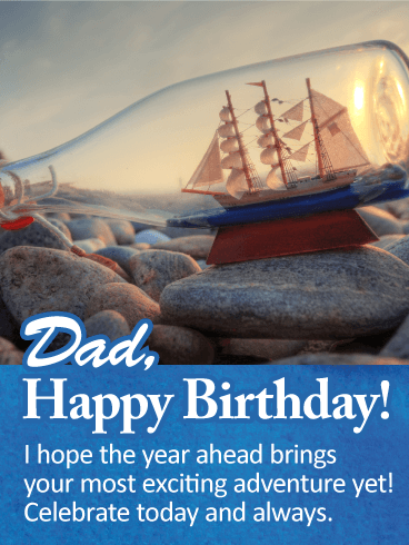 Celebrate Today! Happy Birthday Wishes Card for Father