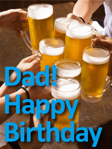 Time to Celebrate! Happy Birthday Card for Father
