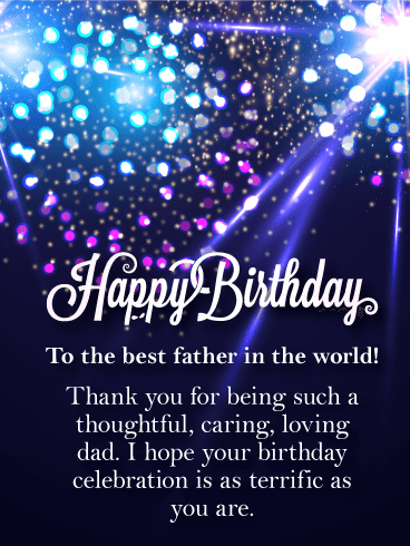 Best Father in the World! Happy Birthday Card