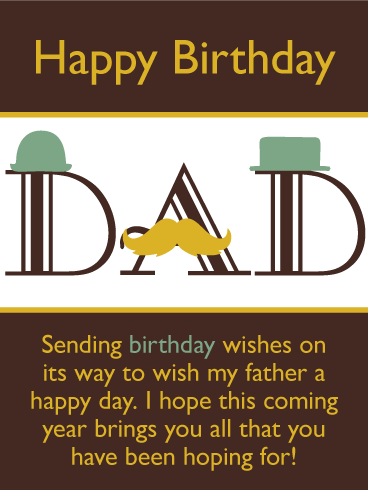 Classy Happy Birthday Card for Father