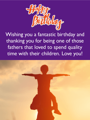 Father & Son Moment - Happy Birthday Card for Father