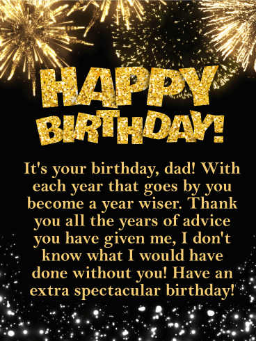Have an Spectacular Day! Happy Birthday Card for Father