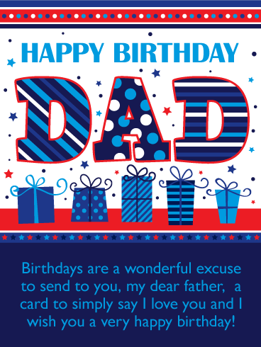 I Love You! Happy Birthday Card for Father
