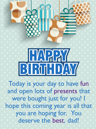 Its Your Day Happy Birthday Card For Father