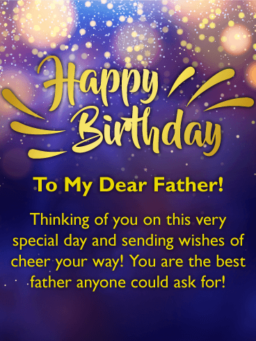 Birthday wishes cards for father birthday greeting cards by wishes of cheer happy birthday card for father bookmarktalkfo Choice Image