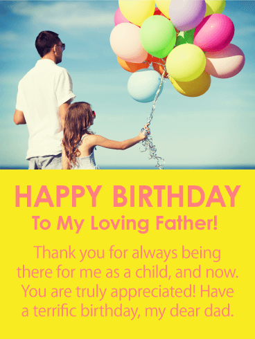 Always There for Me - Happy Birthday Card for Father