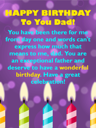 Birthday wishes for father birthday wishes and messages by davia happy birthday to you dad you have been there for me from day one and m4hsunfo