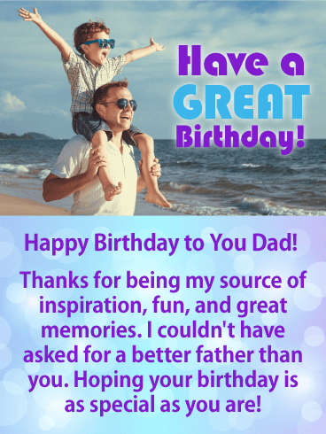 You are Special! Happy Birthday Card for Father