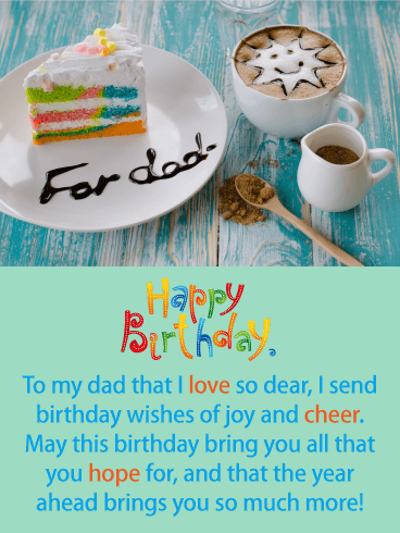 Joy and Cheer - Happy Birthday Card for Father