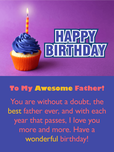 Love You Even More - Happy Birthday Card for Father