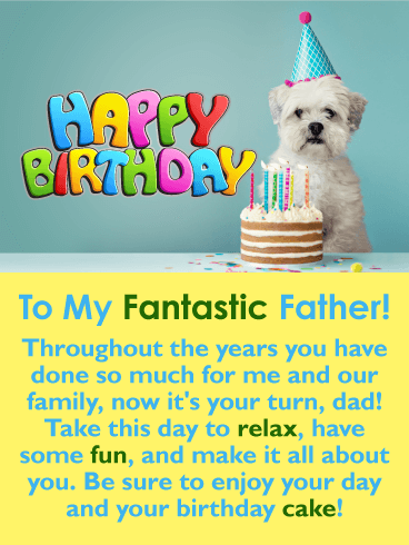 Enjoy the Cake! Happy Birthday Card for Father