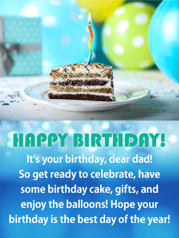 Marvelous Cake Balloons Happy Birthday Card For Father Birthday Personalised Birthday Cards Paralily Jamesorg