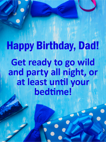 Go Wild! Funny Birthday Card for Father