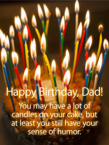 Lots Of Candles! Funny Birthday Card For Father
