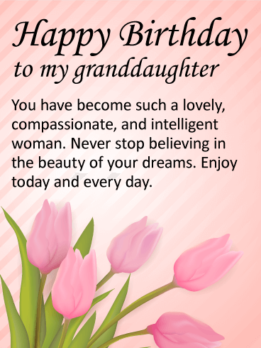 To my Lovely Granddaughter - Happy Birthday Wishes Card