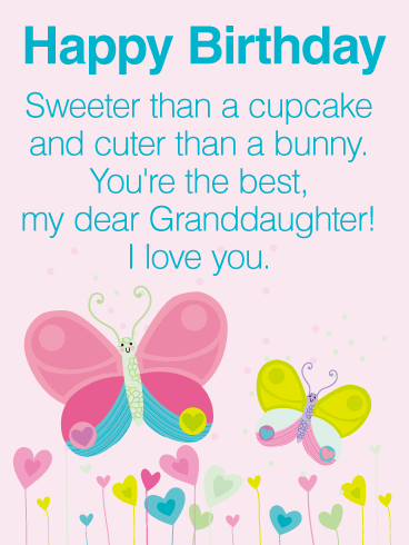 You are the Best! Happy Birthday Wishes Card for Granddaughter