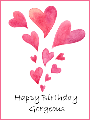 Heart Happy Birthday Gorgeous Card