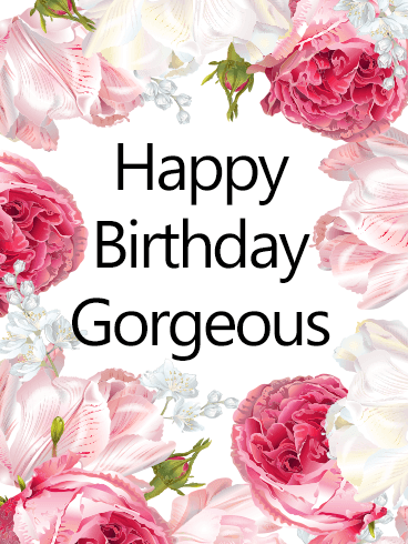 Happy Birthday Gorgeous Rose Card